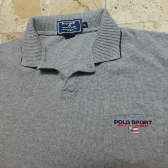 Mens Emblem Ralph Lauren Xl Polo Gray Flag qcRj35L4A